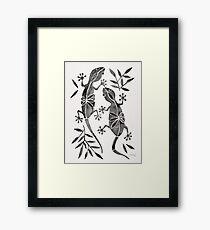Geckos – Black Palette Framed Print