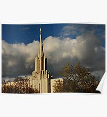 Jordan River - LDS Temple - South Jordan, Utah Poster