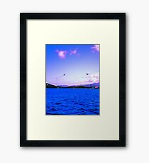 Hello Helicopter  Framed Print