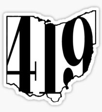 (419) OHIO Sticker
