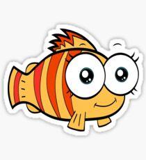 funky fish Sticker