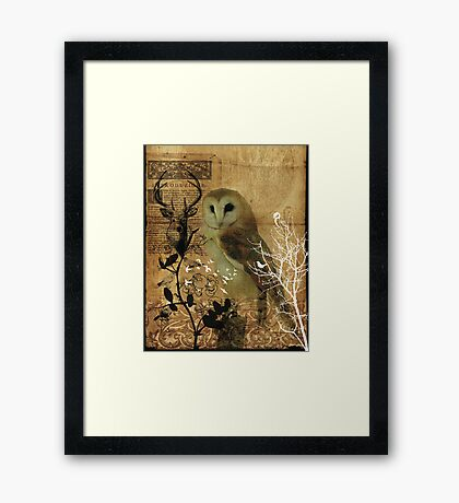 DAY SLEEPER Framed Print