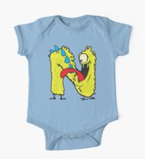 """My Little Monsters Letter """"N"""" kids t-shirt Kids Clothes"""