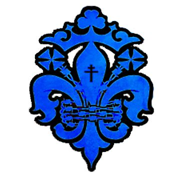 Blue Steampunk Fleur-de-lis Design by jscroggs1