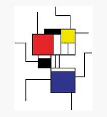 Mondrian style Photographic Print