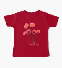 pink poppies Baby Tee