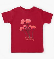 pink poppies Kids Tee