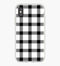 Plaid Cotton White iPhone Case