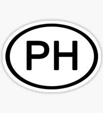 Phish Head PH Euro Car Sticker Sticker