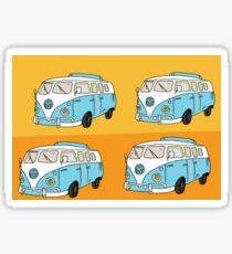 Trippy Hippie VW Van Sticker