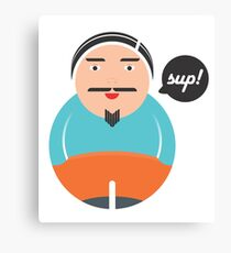 Sup says the dude Canvas Print