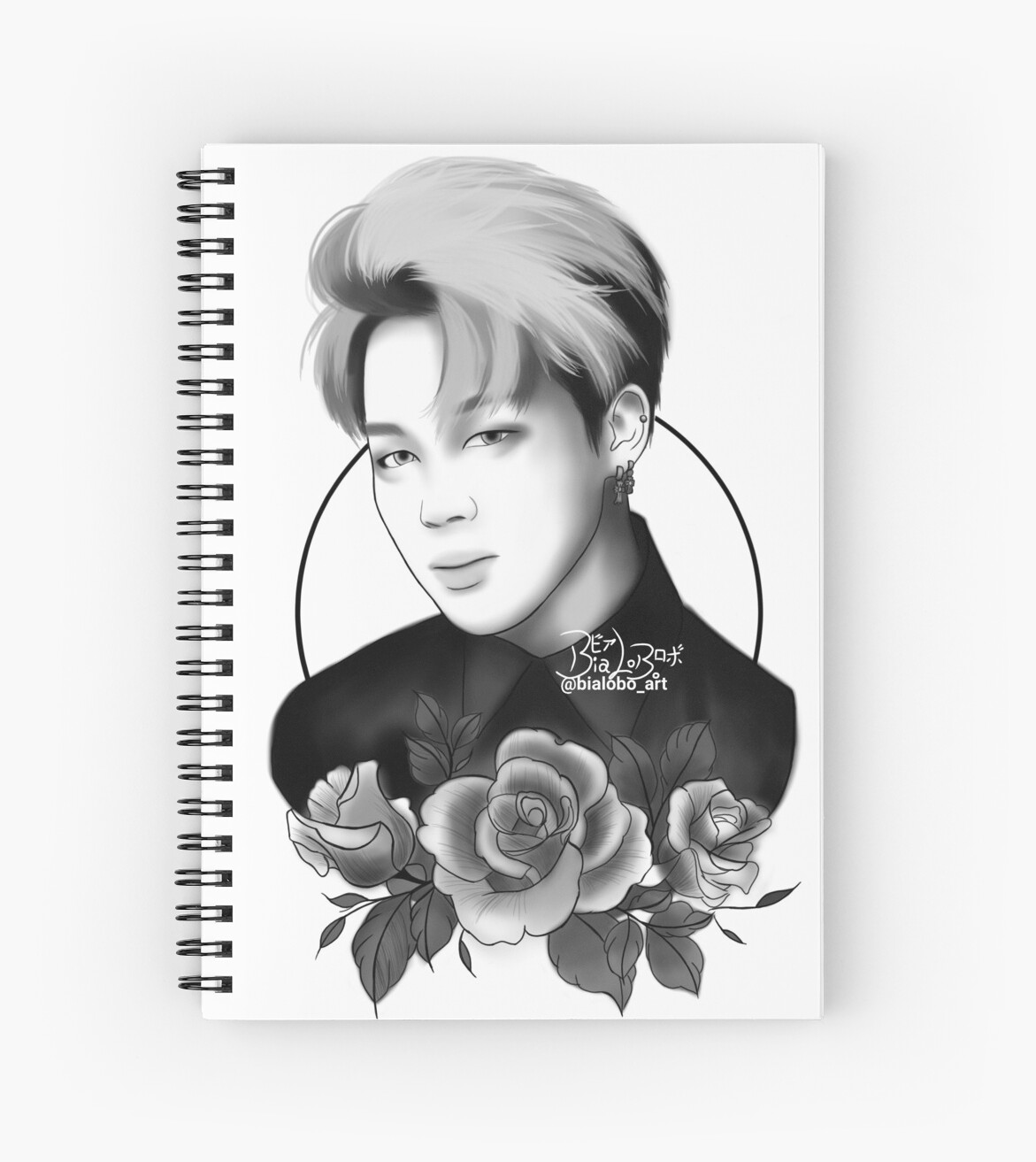 Case Ih Home Decor Quot Jimin Bts Fanart Bybialobo Quot Spiral Notebooks By