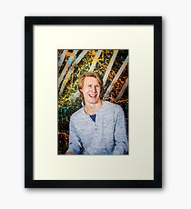 Funny guy laughing Framed Print