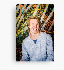 Funny guy laughing Canvas Print