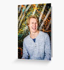 Funny guy laughing Greeting Card