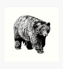 Monochrome Bear Art Print