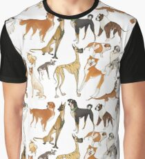 Stylized Dogs Graphic T-Shirt