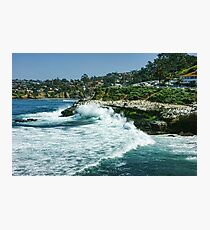 La Jolla California - Pacific Ocean Power Shaping the Coast Photographic Print