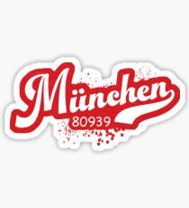 München Munich 80939 Post Code Zip Code Postleitzahl Sticker