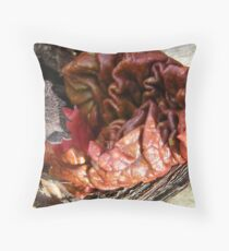 Rhubarb Sprout Throw Pillow