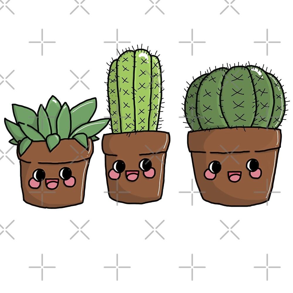 Succulent Friends by ramendooodles