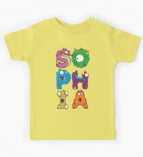 "My Little Monsters - Girls Names ""SOPHIA"" kids t-shirt Kids Clothes"
