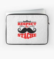 Incredible mustache. Typography. Respect the stache Laptop Sleeve