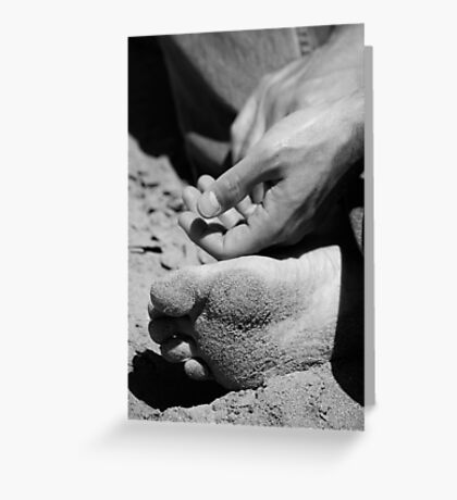 Zen and the art of sand Greeting Card