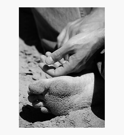 Zen and the art of sand Photographic Print