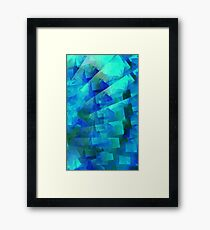 blue steps Framed Print