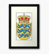 Denmark Coat Of Arms Framed Print