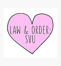 Law And Order: SVU Photographic Print