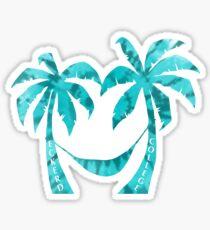 Eckerd College Teal Tie Die Palms Sticker