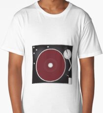 Vintage Turntable Long T-Shirt