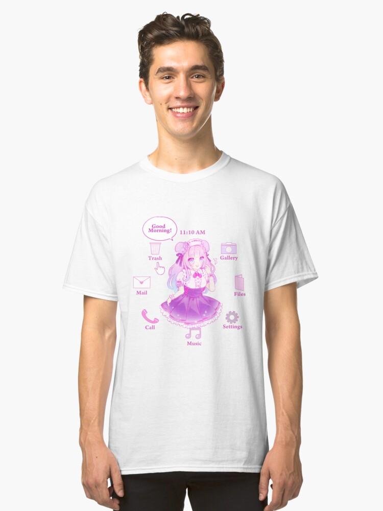 waifu desktop classic t shirt by cherrycheezy redbubble