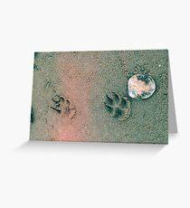 Paw Prints. Greeting Card