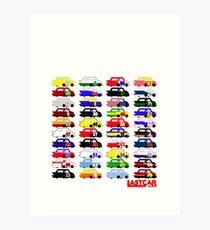LASTCAR.info - Famous Cars Art Print