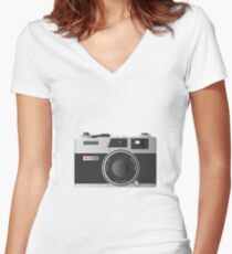 The Poor Man's Leica Women's Fitted V-Neck T-Shirt