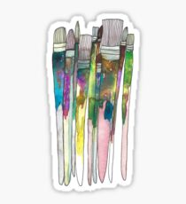 Paintbrushes Sticker