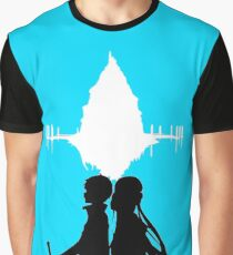 SAO - Asuna Kirito and Aincrad Graphic T-Shirt