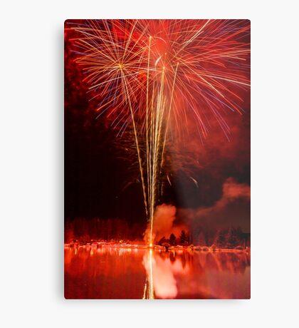 pyrotechnics Metal Print