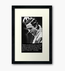 Ted Bundy Framed Print