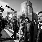 Odd man out - Shibuya Tokyo Japan by Norman Repacholi