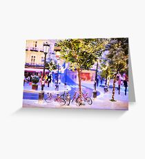 Mini-Streets: Double Bicycles Greeting Card