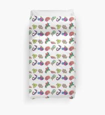 Coral Reef Icons 3 Duvet Cover