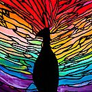 Rainbow Peacock by Kari Sutyla