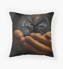 delicate life Throw Pillow