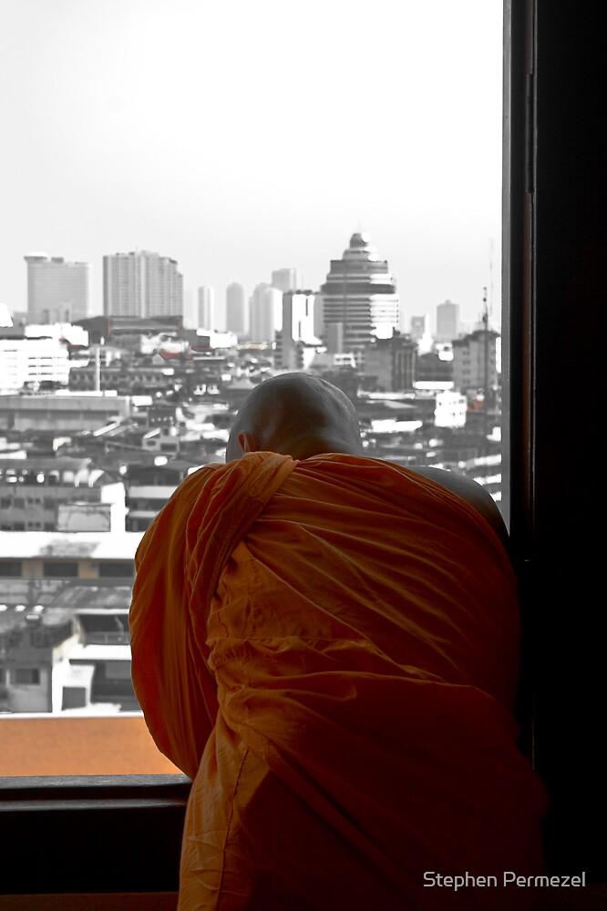 Buddha in Bangkok - Thailand by Stephen Permezel