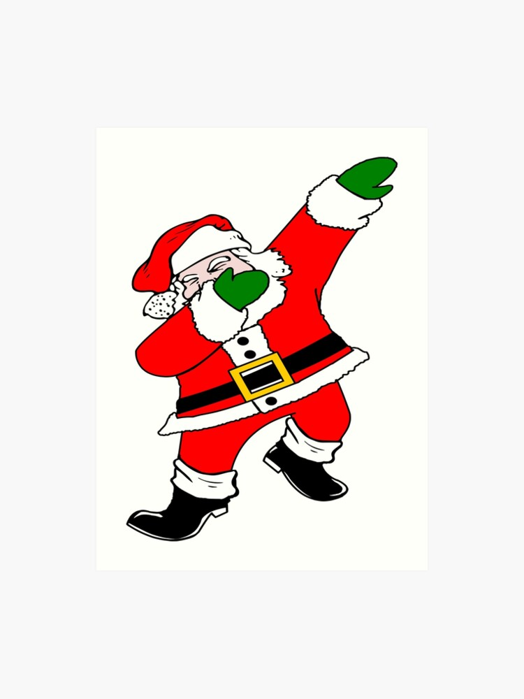picture regarding Santa Claus Printable Pictures referred to as Dab Santa Claus Artwork Print