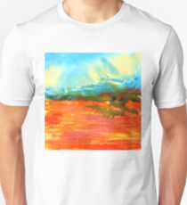 Red Desert Encaustic Landscape Painting Unisex T-Shirt